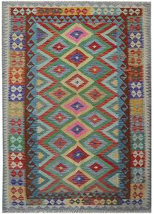 Multi Colored Kilim 5' 2 x 4' 9 - No. 70597