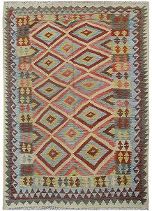 Multi Colored Kilim 5' 7 x 7' 10 - No. 70598