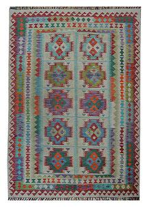 Multi Colored Kilim 4' 10 x 8' 4 - No. 70599