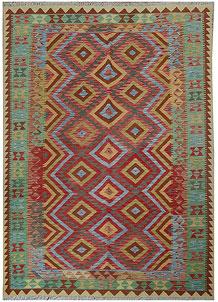 Multi Colored Kilim 5' 6 x 7' 11 - No. 70606