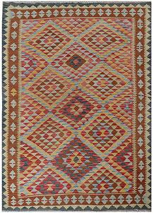 Multi Colored Kilim 5' 8 x 7' 9 - No. 70607