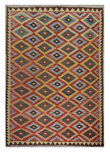 Multi Colored Kilim 5' 3 x 7' 10 - No. 70611