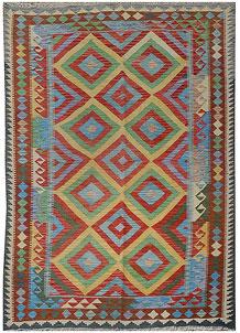 Multi Colored Kilim 5' 6 x 7' 5 - No. 70612