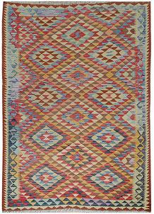 Multi Colored Kilim 5' 5 x 7' 10 - No. 70613