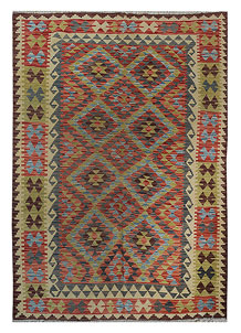 Multi Colored Kilim 5' 8 x 7' 3 - No. 70620