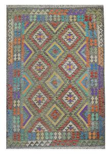 Multi Colored Kilim 5' 5 x 7' 8 - No. 70626