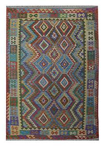 Multi Colored Kilim 5' 7 x 8' 6 - No. 70628