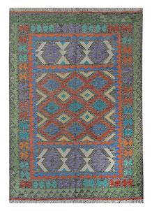 Multi Colored Kilim 5' 7 x 7' 8 - No. 70629