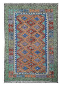 Multi Colored Kilim 5' 1 x 8' 2 - No. 70634