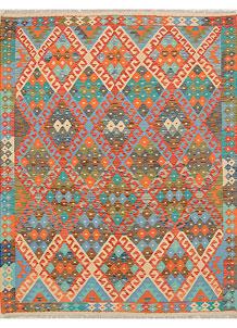 Multi Colored Kilim 6' 3 x 7' 9 - No. 70641