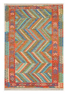 Multi Colored Kilim 5' 7 x 8' 2 - No. 70642