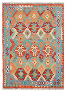 Multi Colored Kilim 5' 10 x 8' - No. 70643
