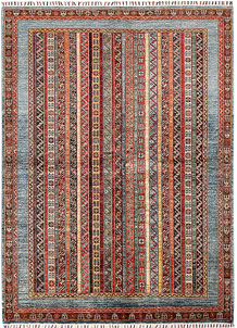 Multi Colored Shawl 5' 8 x 7' 10 - SKU 70875