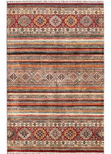 Multi Colored Kazak 5' 7 x 7' 10 - SKU 70880