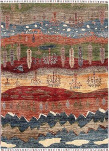 Multi Colored Kazak 4' 11 x 6' 8 - SKU 70881