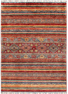 Multi Colored Kazak 4' 10 x 6' 8 - SKU 70883