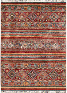 Multi Colored Kazak 5' x 6' 9 - SKU 70884