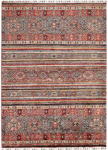 Multi Colored Kazak 4' 11 x 6' 8 - SKU 70885
