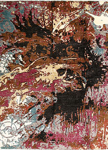 Multi Colored Abstract 8' x 9' 8 - SKU 70898