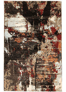Multi Colored Abstract 4' 6 x 6' 11 - SKU 70961