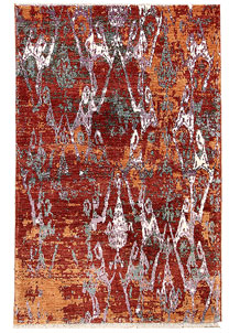 Multi Colored Abstract 4' 4 x 6' 10 - SKU 70963