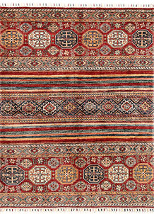 Multi Colored Kazak 5' 1 x 6' 5 - SKU 71012