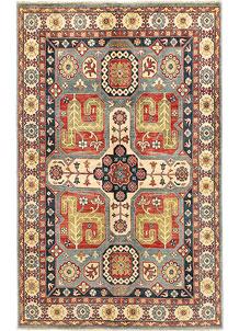Multi Colored Kazak 5' 10 x 9' 1 - SKU 71029
