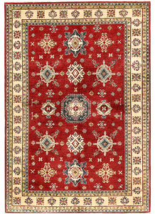 Firebrick Kazak 6' 6 x 9' 9 - SKU 71032
