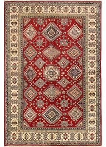 Firebrick Kazak 6' 3 x 9' 4 - SKU 71037