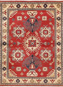 Firebrick Kazak 4' 11 x 6' 9 - SKU 71130