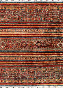 Multi Colored Kazak 4' 11 x 6' 5 - SKU 71242