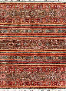 Multi Colored Kazak 4' 11 x 9' 7 - SKU 71249