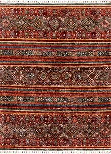 Multi Colored Kazak 4' 11 x 6' 7 - SKU 71254
