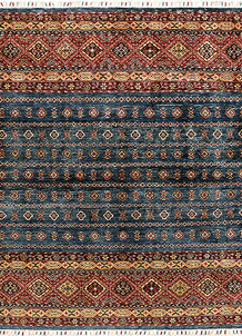 Multi Colored Kazak 5' 2 x 6' 9 - SKU 71256