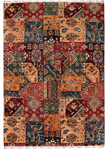 Multi Colored Kazak 5' 8 x 8' 1 - SKU 71261