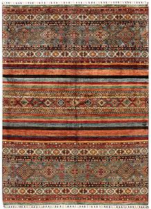 Multi Colored Kazak 5' 8 x 8' 1 - SKU 71263