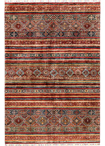 Multi Colored Kazak 6' 3 x 8' 10 - SKU 71268