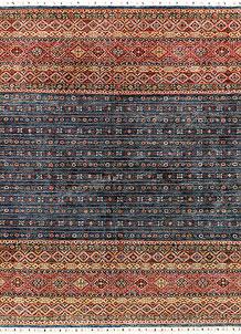 Multi Colored Kazak 6' 10 x 9' 9 - SKU 71279