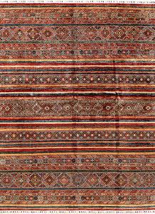 Multi Colored Kazak 8' x 10' 1 - SKU 71281