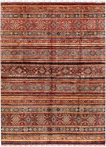 Multi Colored Kazak 8' 10 x 11' 6 - SKU 71282