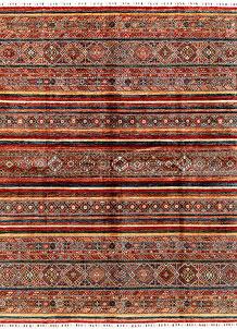 Multi Colored Kazak 8' 2 x 10' 1 - SKU 71283