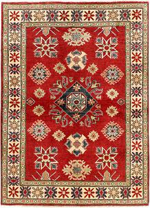 Red Kazak 4' 9 x 6' 6 - SKU 71339