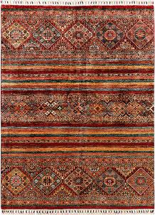 Multi Colored Kazak 4' 10 x 6' 5 - SKU 71377