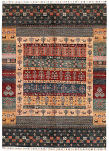 Multi Colored Kazak 5' 8 x 7' 11 - SKU 71394