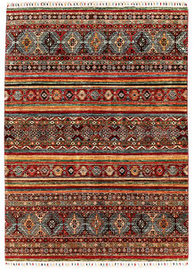 Multi Colored Kazak 5' 6 x 7' 9 - SKU 71397