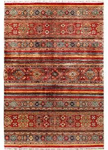 Multi Colored Kazak 6' 11 x 10' - SKU 71407