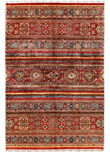 Multi Colored Kazak 6' 10 x 10' 1 - SKU 71408