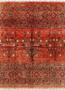 Orange Red Kazak 8' 2 x 10' 1 - SKU 71413